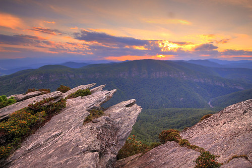sunset blue ridge parkway hawksbill mountain north carolina brp nc linville gorge wilderness
