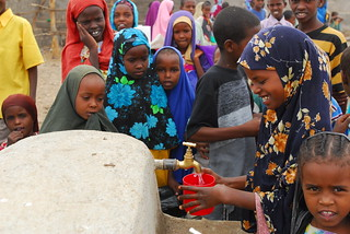Students waiting in line to drink tap water at Harmukayle Haji Mumin School | by UNICEF Ethiopia