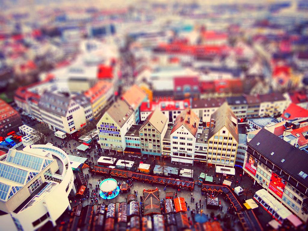 Ulm Weihnachtsmarkt.Ulm Weihnachtsmarkt A Miniature Effect Milica V Flickr