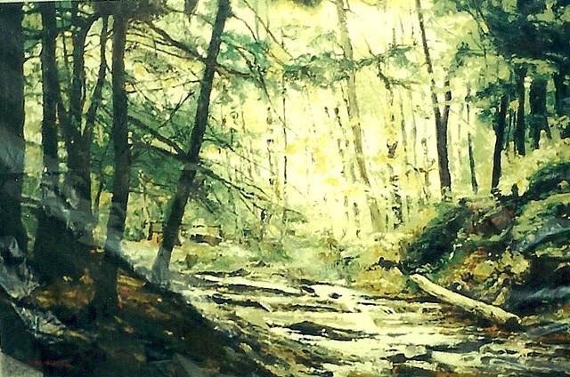 Reflection Of Innocence  -oil on canvas, Rex Stewart
