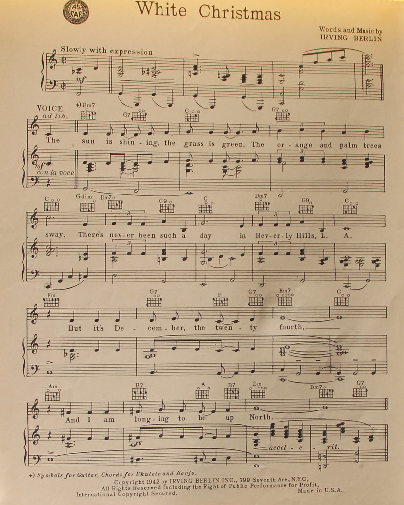 White Christmas Sheet Music.White Christmas My Mom S Old Sheet Music Driven To