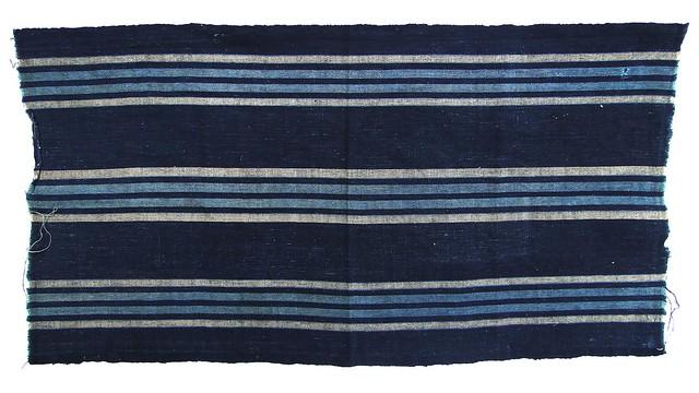 Antique Japanese Kasuri Ikat Textile - Shima Stripe