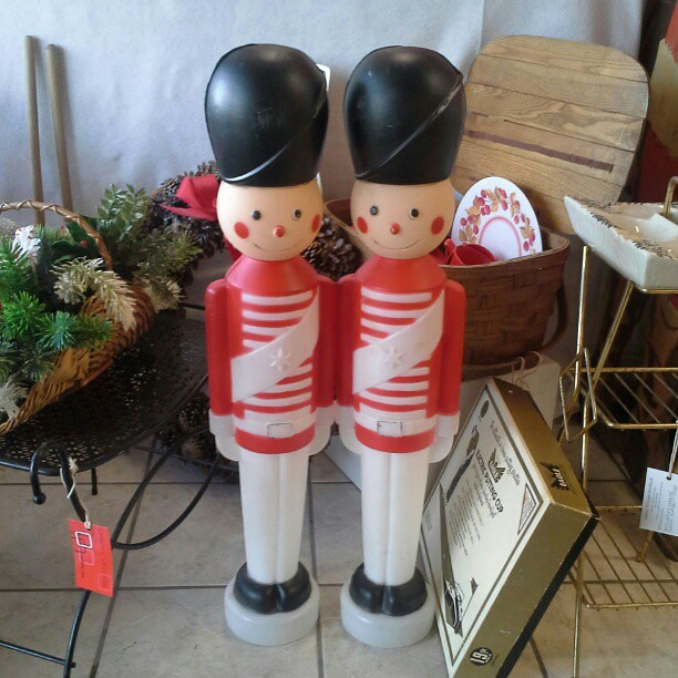 Blow Mold Christmas Yard Decorations.Vintage Toy Soldier Blow Mold Christmas Yard Decorations