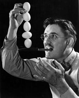 Joseph Steinmetz doing an egg balancing trick