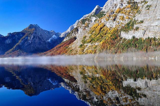 Königssee, Herbst-Spiegelung