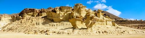 beach sky travel rock beautiful murcia bolnuevo viaje rocas playa erosión