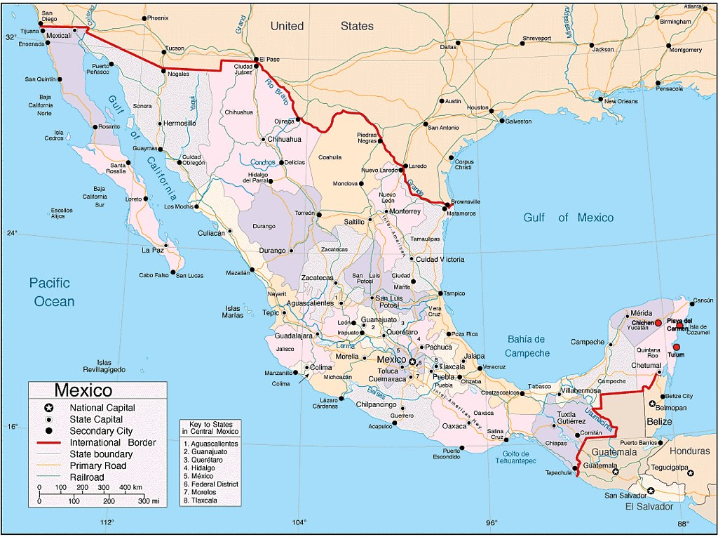 Map of Mexico, Undated   This political map shows the variou…   Flickr