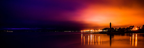 night colours coloursofscotland vibrant water firthofclyde light lights lighttrails blue purple amber silhouette largs landscape seascape waterscape longexposure nightphotography pentaxkr pentax pentaxdal northayrshire coast coastal coastallandscape pencilpoint sunsetsandsilhouettes