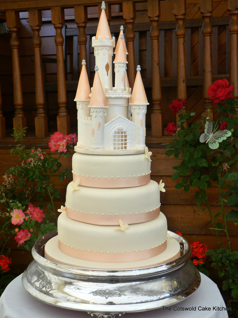 Castle Wedding Cake.Castle Wedding Cake Three Tier Layered Sponge Cakes Topped Flickr