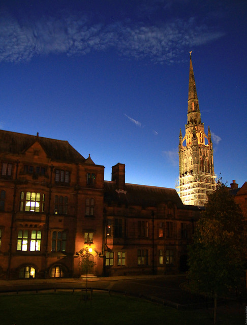 St Michaels spire Coventry (14th century)