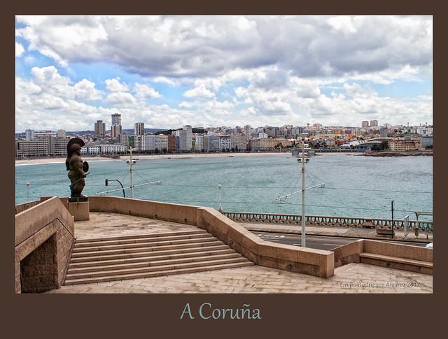 Soldado romano vigilando Coruña