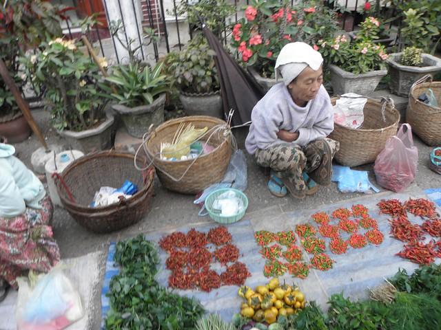 In the market in Luang Prabang, Laos