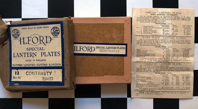 Ilford special lantern plates