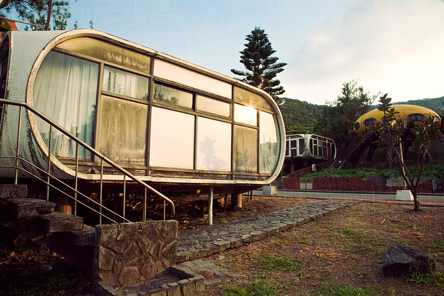 Wanli. Abandoned UFO resort