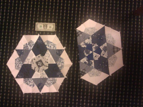 I've been so stumped on how to work with these hexagons, and turning them into stars made them so much happier!