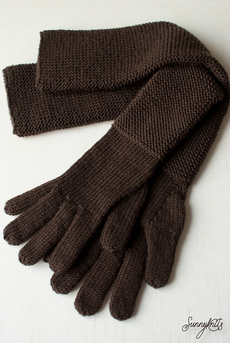 Long knitted gloves | by sunnyknits