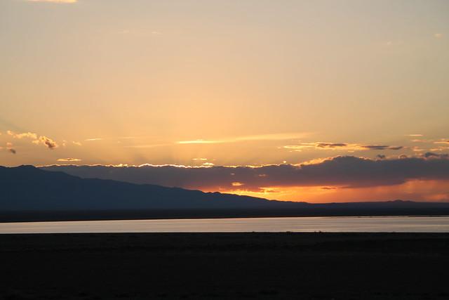 sunset at Durgun Nuur lake
