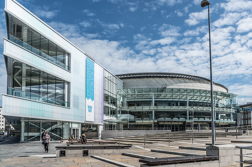 THE WATERFRONT HALL IN BELFAST [WITH NEW EXTENSION]-121115 | by infomatique