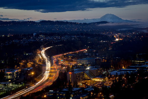 Blue Hour Commute - Bellevue | by hjl