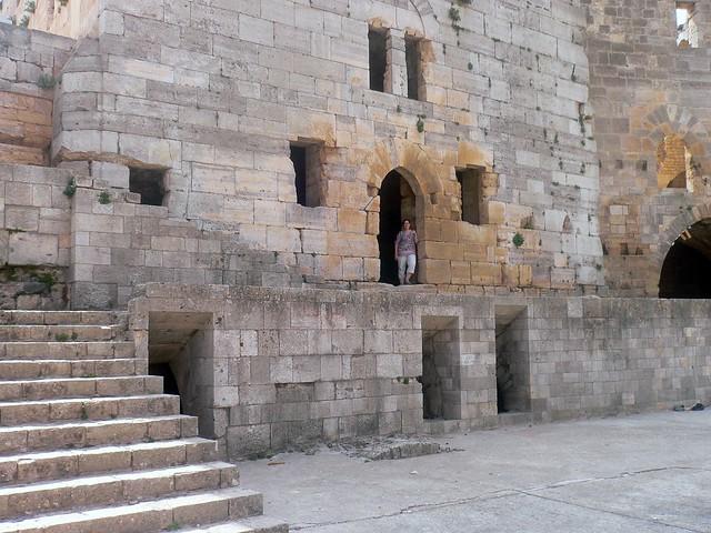 Inside Crac des Chevaliers, Syria