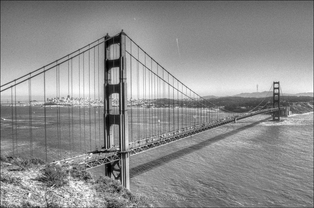 Golden Gate Bridge Black White San Francisco Normal Ex