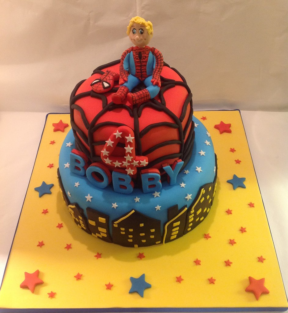 Enjoyable Spiderman Cake 4Th Birthday Cake Decoration Facebook C Flickr Personalised Birthday Cards Beptaeletsinfo