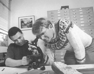 Alexis Beard '98 with Professor of Geology Rick Hazlett in 1996