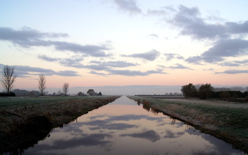 sunrise december drain fenland
