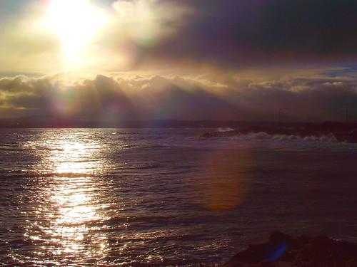 sky dublin sun water reflections rocks waves 10 11 splash poolbeg sandymount 11yrs goldsky 10yrs takenwheniwas11 takenwheniwas10