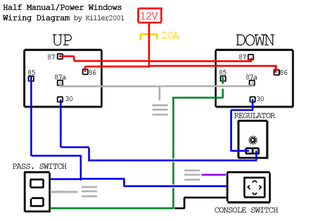 [DVZP_7254]   Half Manual/Power Window Wiring Diagram | by Killer2001 | J Sugiyama |  Flickr | Wiring Diagram Power Windows |  | Flickr