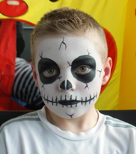 skeleton Face Painting | by Dermot H