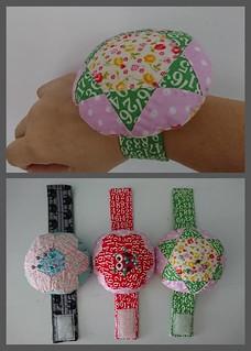 Sew my wrist pincushions