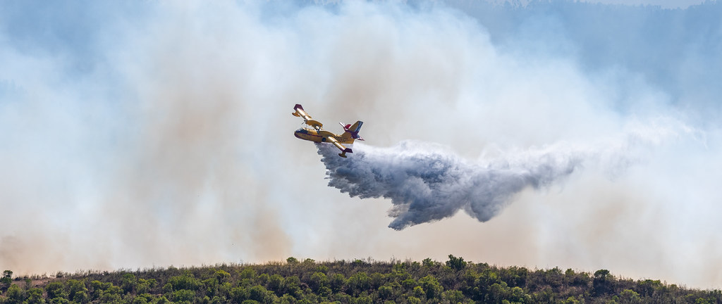 Day 6: Canadair CL-415 dropping water
