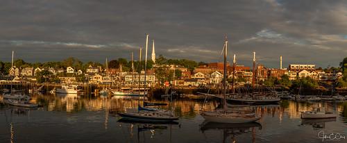 newengland schooner sunrise lobster camden pier reflection me harbor boat bay maine jclay ocean
