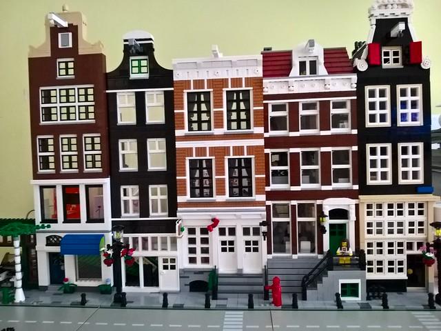 Lego Amsterdam street scene