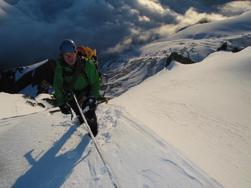 The Triftjigrat on the Breithorn. Climber: Darren Sheppard