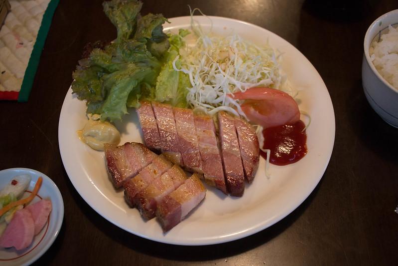 自家製ベーコンステーキ定食(1150円)