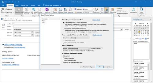 Outlook Meeting Options | by jbj