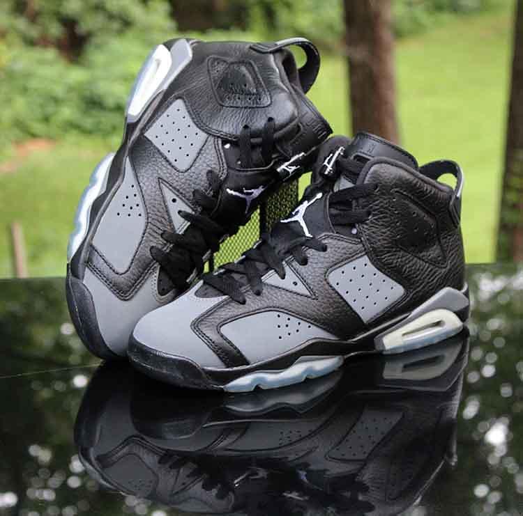 newest dbbc2 4d739 ... Air Jordan 6 Retro GS Cool Grey Black Icy Blue 384665-010 Size 5.5Y