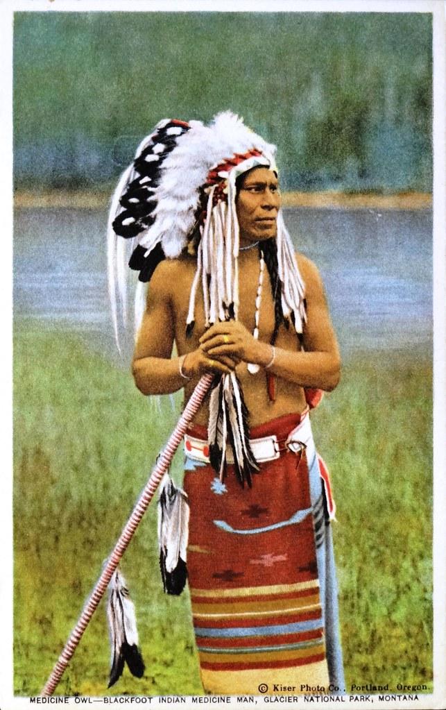 Medicine Owl, Blackfoot Indian Medicine Man, Glacier Nati