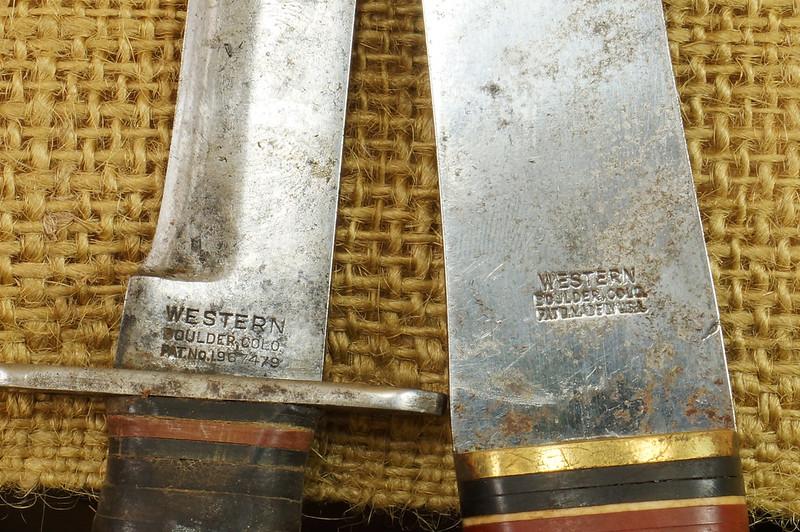 RD14019 Vintage Western Knife & Hatchet Combo Boulder, Colo. DSC05369