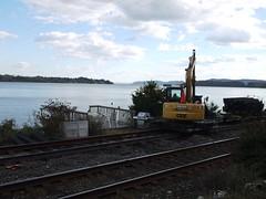 日, 2012-10-21 15:44 - 線路の補修中 Tomkins Cove