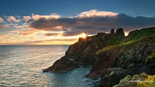 morning ireland light sea seascape green nature clouds sunrise ruins view getty wicklow gcc gettyimages irishsea nikond300