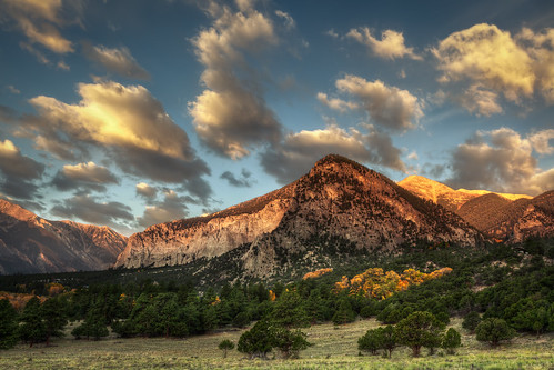 autumn trees mountains fall clouds forest sunrise colorado cliffs co sanisabelnationalforest mountprinceton mountantero