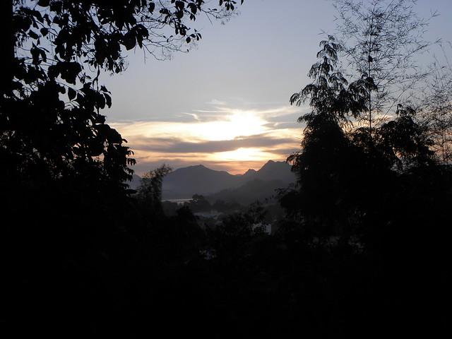 Sunset from Phu Si near Luang Prabang, Laos