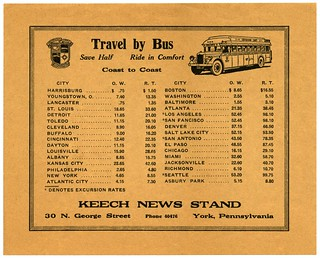 Travel by Bus from York, Pennsylvania—Save Half, Ride in Comfort