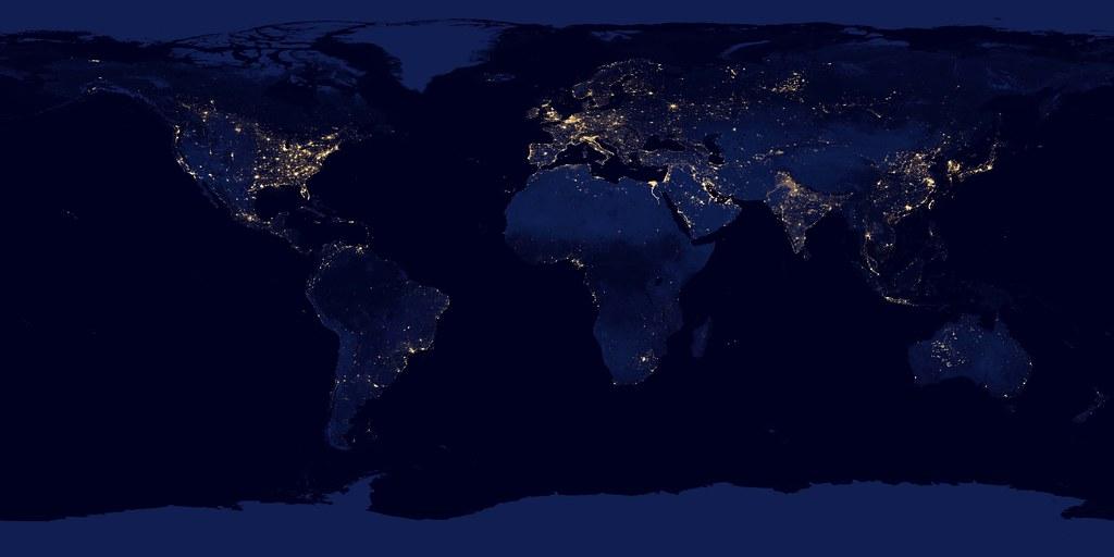 City Lights 2012   Flat map | NASA image acquired April 18  … | Flickr