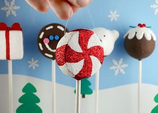 Peppermint Cake Pop Ornament | by Bakerella