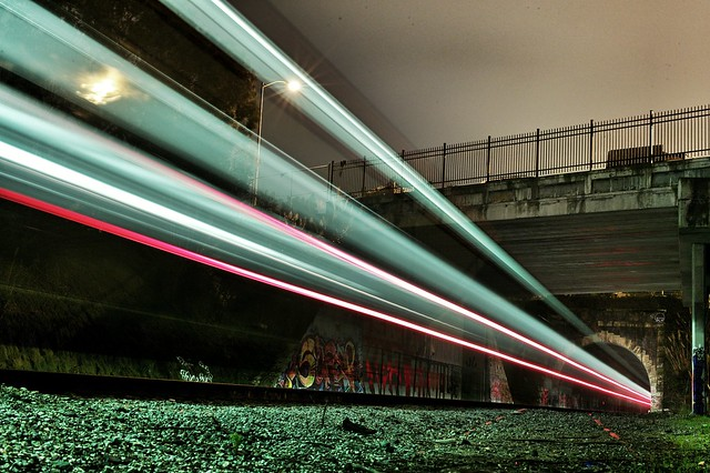 A shot from the train tracks last night w/ @everydaydude, who taught me some night shot tricks.