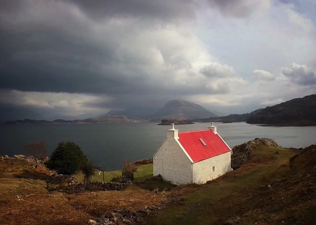 The White House at Inverbain, Loch Shieldaig, Wester Ross
